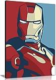 Iron Man Retro Pop Art Lienzo Pared Art imagen impresión, A0 91x61cm (36x24in)