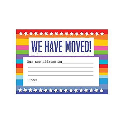 Change Of Address Cards Moving House. Envelopes Included. Packs of 10 20 & 30 Available (Pack 10)
