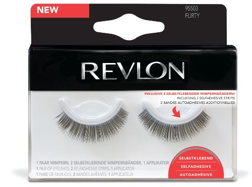 Revlon Wimpern selbstklebend Style Flirty, 1er Pack (1 x 5 Stück)