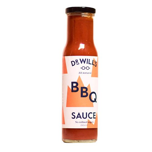 Dr Will's BBQ Sauce 250g (Pack of 3) - All Natural, Vegan Friendly, Made with Real Tomatoes - No Artificial Additives, Preservatives or Refined Sugars, Dairy and Gluten Free