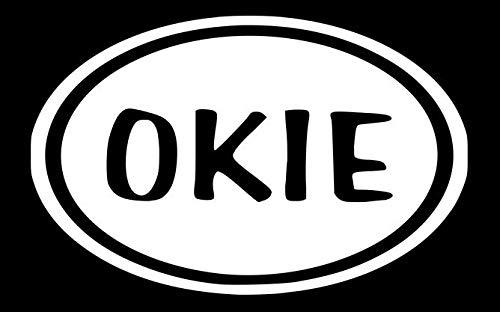 Okie - Vinyl-Aufkleber, 14 x 9 cm, weiß, 5.5