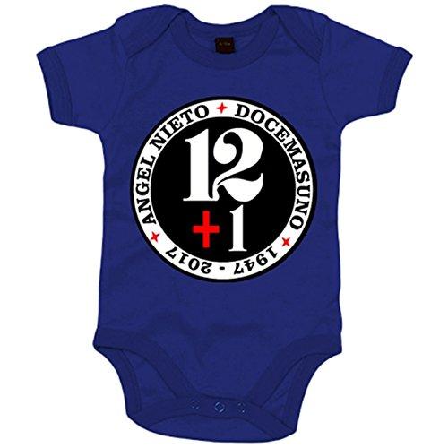 Body bebé Angel Nieto doce mas uno homenaje - Azul Royal, 12-18 meses