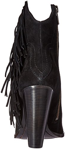 Frye Remy Fringe Short Femmes Daim Bottine Black