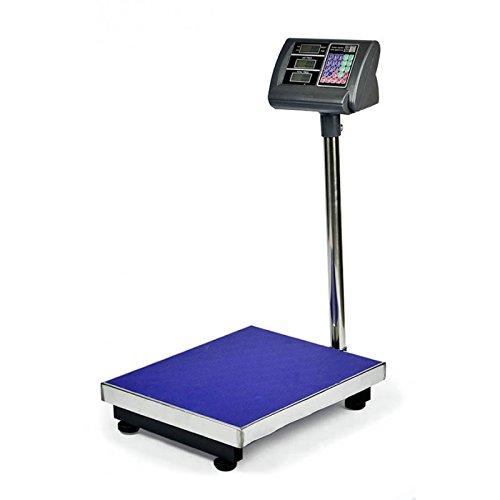 Bascula de Plataforma 300 a 350 kg: es una opción ideal para el pesaje de una amplia gama de materiales. La pantalla LCD es muy brillante y se puede leer claramente desde una cierta distancia. Esta escala es muy fácil de operar, que le ofrece funcion...