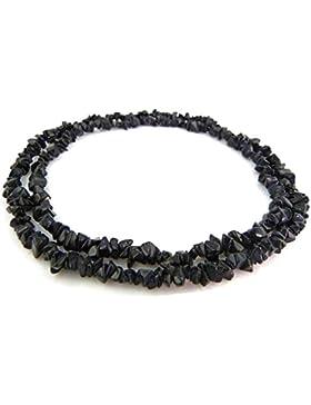 Collier Edelstein Halskette - Onyx - Splitterkette