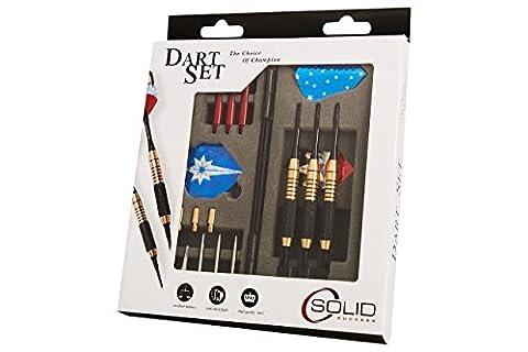 Premium Dartpfeile Dart Set (25-teilig) | 3 Softdarts & Steeldarts für Anfänger & Profis | 3x Barrel, 6x Schaft, 9x Spitzen & 9x (Dart Flügel)
