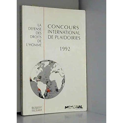 3e Concours international de plaidoiries : 20 mars 1992