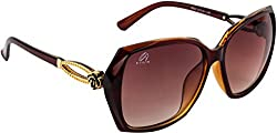 AISLIN Over-Sized Sunglasses For Women (Brown Lens) (AS-9003-80-LBRW608)