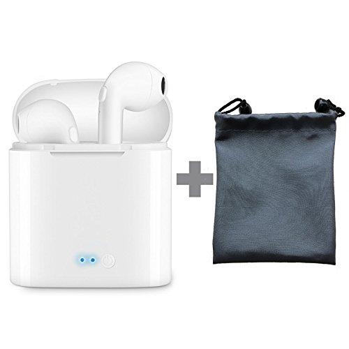 Aispeed Creations Wireless In-Ear, True Bluetooth Kopfhörer Noise Cancelling Mini Headset unsichtbar Sport in-Ear-Kopfhörer mit Tragbares Ladegerät integriertes Mikrofon für iPhone Smartphones Laptop