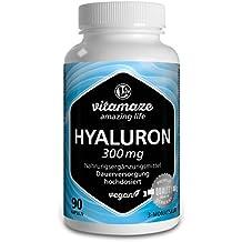 Ácido hialurónico altamente concentrado, 300 mg por cápsula VEGANA, envase para 3 meses,
