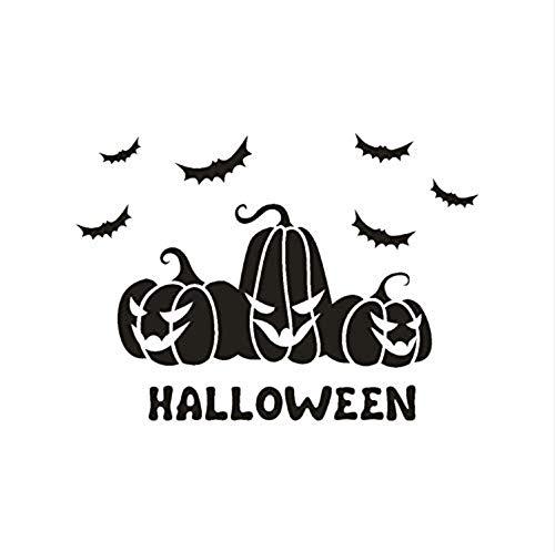 Wand-Aufkleberhappy Halloween Bat Fenster Home Decoration Aufkleber Dekor Diy Home Dekorationen Scary Pumpkin Black Bat