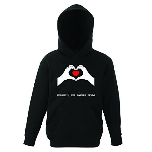 JOllify HERXHEIM BEI LANDAU PFALZ Kinder Pullover Pulli Hoodie – Design: Hände Herz - Größe: 164 - 14-15 Jahre (Landau-herz)