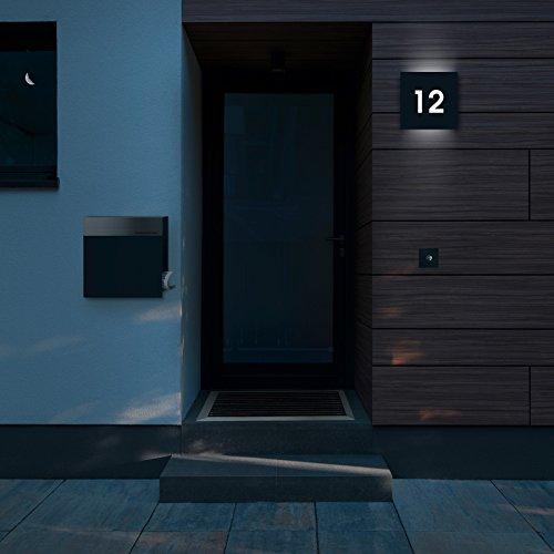 Frabox Design Briefkasten NAMUR Anthrazitgrau / Edelstahl - 8