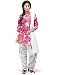 Vastra Vinod Multicolor Cotton Readymade Patiala Suit
