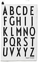 Design Letters Geschirrtuch 2er-Set weiß Motiv A-Z 10201800-W