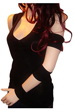 """Mademoiselle Mirage """"Je veux"""" Sexy Cool Woman Black Top/Shirt (18/20)"""