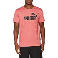Puma ESS T-Shirt, Hombre, Ribbon Red Heather, XL