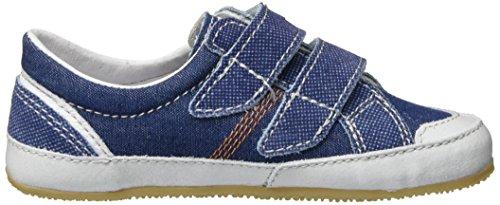 Living Kitzbühel Doppelklettschuh Jeans Unisex-Kinder Flache Hausschuhe Blau (jeans 560)