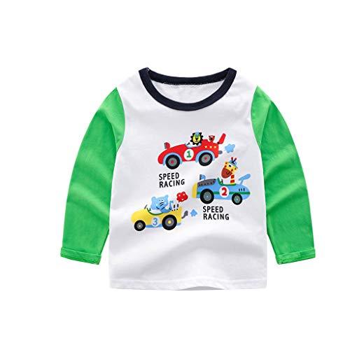Baby Mädchen Kleid TüLl, Oyedens LangÄrmeliges Cartoon-Druck-Shirt-Shirt Der Kinder, Das Shirt T-Shirt Grundiert