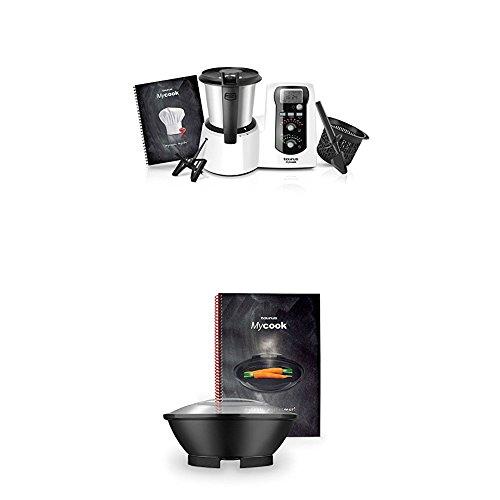 Taurus Mycook Easy - Robot de cocina por inducción + Taurus Vaporera Mycook - Conjunto de cocción al vapor y recetario