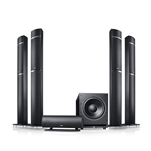 Teufel LT 5 für Dolby Atmos 5.1.4 -Set Schwarz Heimkino Lautsprecher 5.1 Soundanlage Kino Raumklang Surround Subwoofer Movie High-End HiFi Speaker