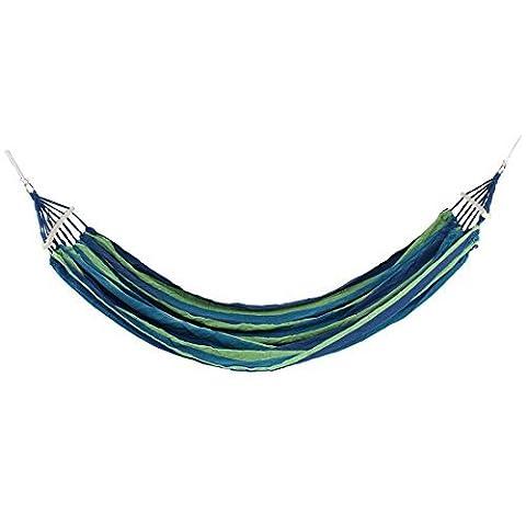 DealMux Leinwand Outdoor-Camping-Reise Seilschaukel Hängeschlafbett Doppel Parachute Hammock (Parachute Stoff Hammock)