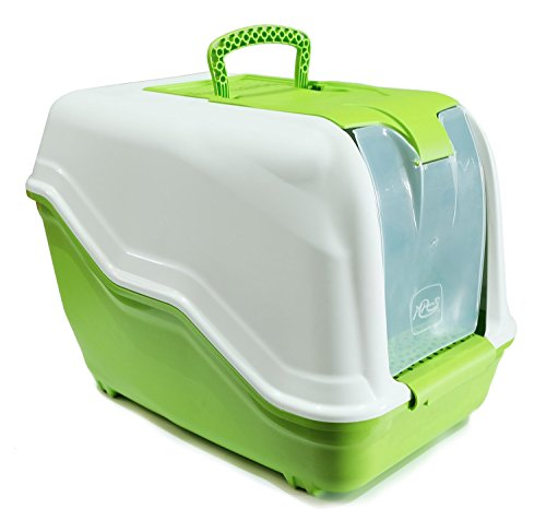 BPS® Bandeja Sanitaria Plástica Cerrada Gran Tamaño con Pala Color Verde 47* 30* 40cm BPS-4163 (Verde)