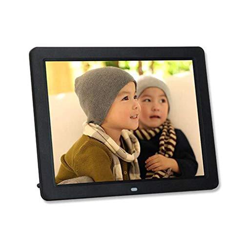 ANYU ultradünnes Digitalfoto, elektronischer 12,1-Zoll-Fotorahmen, Musik- / Fotoalbum, HD-Video-Loop-Player, intelligente Werbemaschine (Farbe: Schwarz)