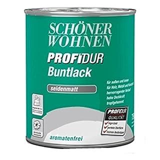 Schöner Wohnen Profidur Buntlack Ultramarin RAL 5002 ( Dunkelblau ) / 750 ml / seidenmatt / aromatenfrei / für außen u. innen / für Holz, Metall u. Kunststoff
