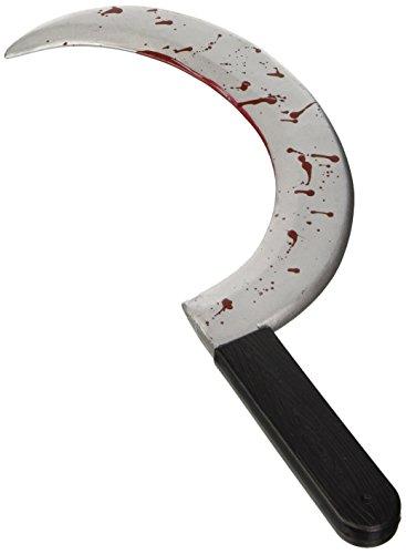 Preisvergleich Produktbild Halloween, blutige Sichel oder blutige Sense, Größe ca. 45,5 cm, für Skull-Kostüm oder Sensemann
