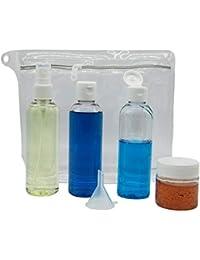 Neceser Transparente con envases de Viaje Aptos para AVIÓN