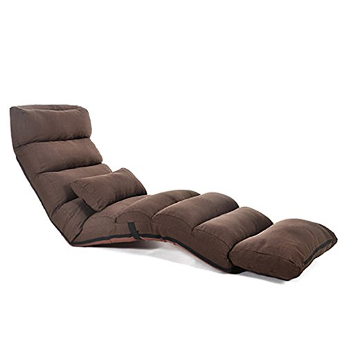 Multi-Gang Verstellbare Lazy Couch Single Erkerfenster Schlafzimmer Mittagspause Kleine Schlafcouch Liegestuhl, Gaming Stuhl, Multiangle Couch Betten (Farbe : Brown)