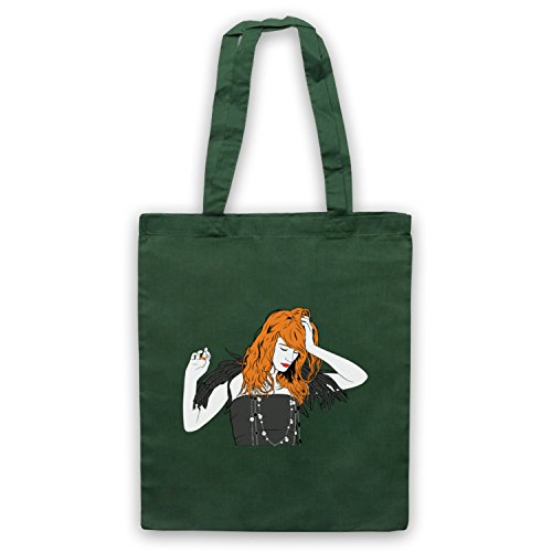 Inspiriert durch Florence & The Machine Florence Illustration Inoffiziell Umhangetaschen Dunkelgrun