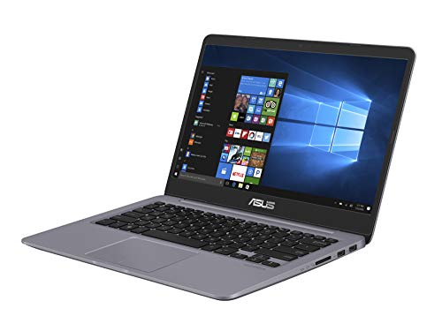 Asus S410UA-EB1056T PC portable 14' Gris métal (Intel Core i3, 8 Go de RAM, 1 to + SSD 128 Go, Windows 10) Clavier AZERTY Français