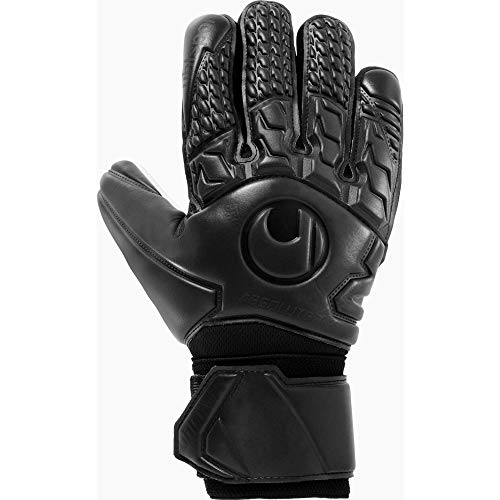 uhlsport Unisex- Erwachsene Torwart-Handschuhe-1011092 Torwart-Handschuhe, schwarz, 9