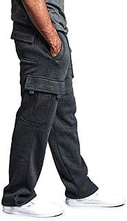 G-Style USA Men's Solid Fleece Heavyweight Cargo P