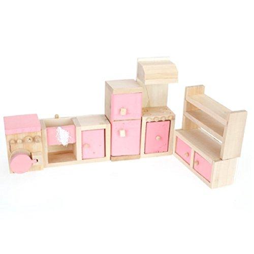 Sothat Rosa Kinder Holz Puppenhaus Küche M?Bel Kinderzimmer -