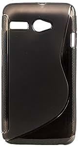 Intex Aqua 3G Pro Magic Brand S-Line Black Soft Silicon Back Cover Case