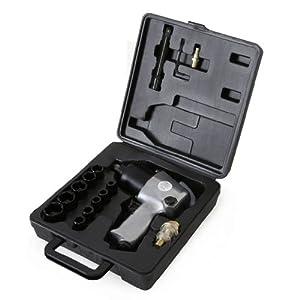 EBERTH 1/2 Zoll Druckluft Schlagschrauber mit Koffer und umfangreichem Zubehör (576 Nm Drehmoment, 125 mm Verlängerung…
