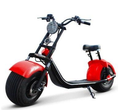 1000W-60V-12/20Ah recargable de litio citycoco eléctrica grasa neumático scooter en Holland almacén rojo, rojo