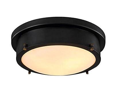 Industrial Retro Vintage USA Round Black LED Lamp Industrial Lamp Bedroom Ceiling Lamp Flat in studio Timber Rod Kitchen Iron Kitchen Lamp Path Lights, Keller