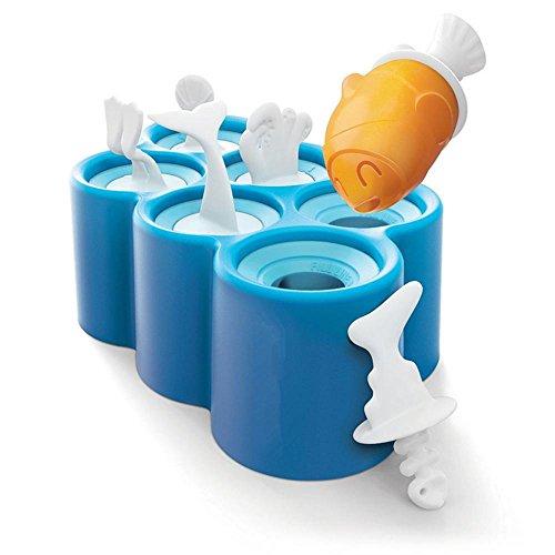 Pawaca EIS Formen, 6 Hässliche Fische DIY Gefrorene Eislutscher Formen Eiscreme Formen, Nahrungsmittelgrad-Flexibler Silikon-Lutscher-Hersteller für Kinder, BPA Geben Frei