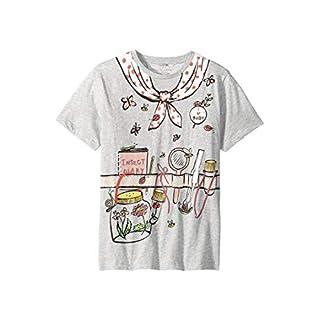 Stella McCartney Kids Baby Girl's Arlow Printed Gardener Short Sleeve Tee (Toddler/Little Kids/Big Kids) Grey 14