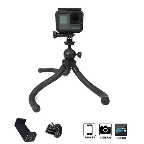 micros2u Flexible Waterproof 3 in 1 Kamerastativ PREMIUM unzerbrechliches Reisestativ. Kompatibel mit GoPro, Action Cam, DSLR - Canon Nikon Sony, Smartphone, iPhone