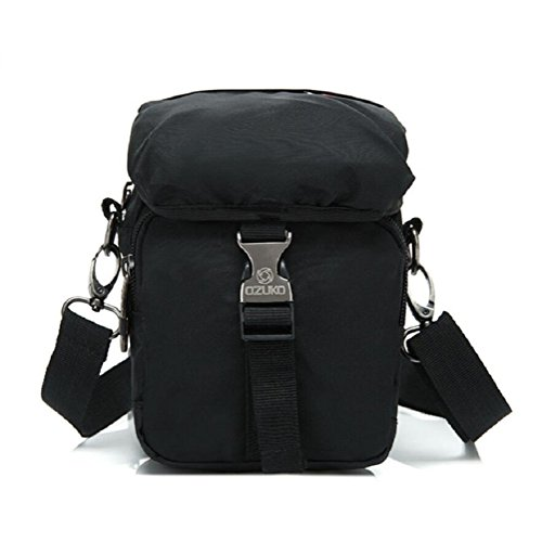 Z&N Modo creativo tasche piccole sacchetto d'attaccatura borsa Messenger borsa a tracolla casual borsa da viaggio uso quotidiano di uomini e donne portatileblack1L black
