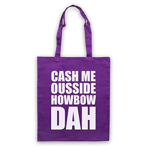Cash Me Ousside Howbow Dah Meme Umhangetaschen Violett