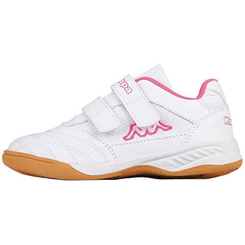 Kappa Mädchen Kickoff Kids Multisport Indoor Schuhe, Weiß (White/L´pink 1027), 31 EU