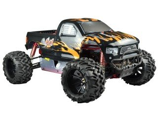 Monster truck 1/5 off road con motore a scoppio 30cc - radio 2.4ghz - 4wd - rtr - rh509 hurricane v2 vrx