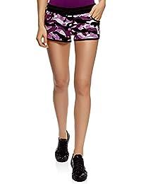 a5b2b1786a oodji Ultra Mujer Pantalones Cortos Estampados de Algodón
