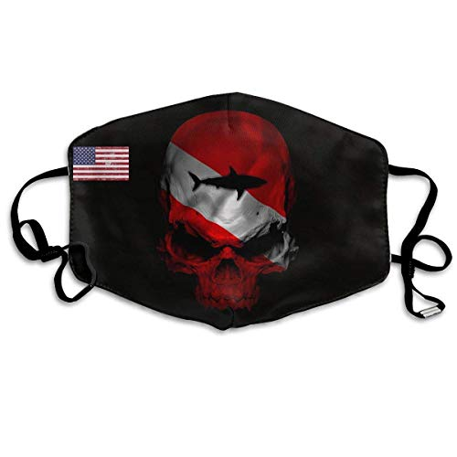 Masken, Masken für Erwachsene,Face Mask, Mouth Mask,Outdoor Mouth Mask, Face Masks with Design, Dive Flag Shark Skull Unisex Face Masks Dust MaskMasks Anti-Dust Flu Mouth Mask 149 - Luna Monster Kostüm